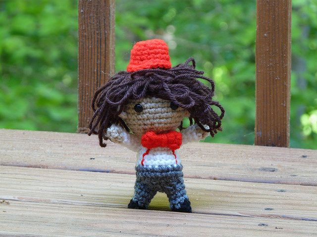 crochet dr. who amigurumi crochet fez