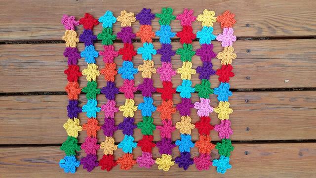 six petal crochet flower crochet shawl