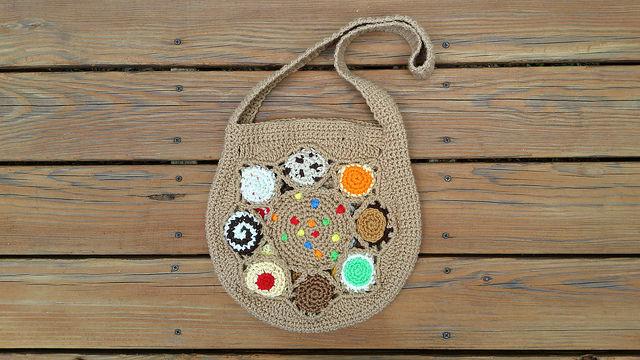 crochet cookie bag