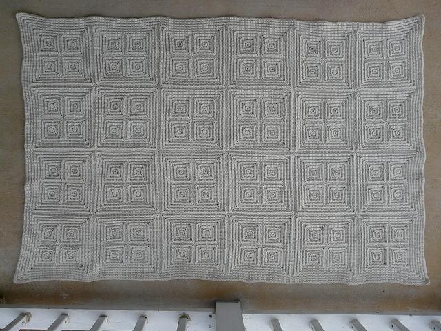 textured crochet afghan