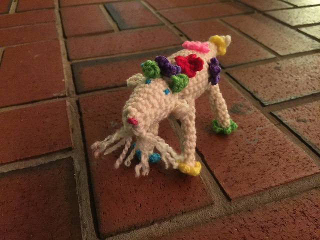 crochet goat out for frozen custard