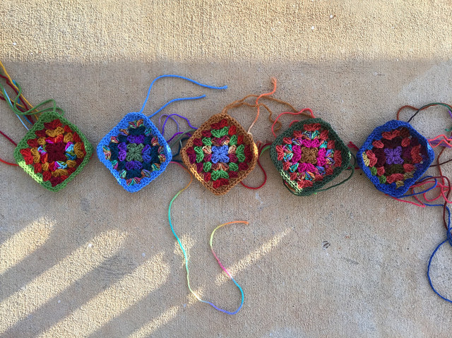five granny squares