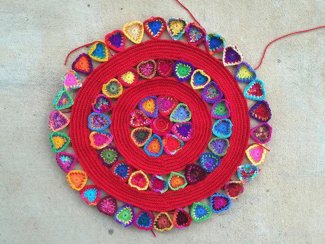 crochet hearts crochet mandala