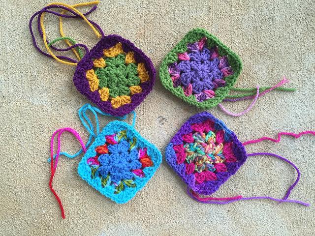 four granny squares