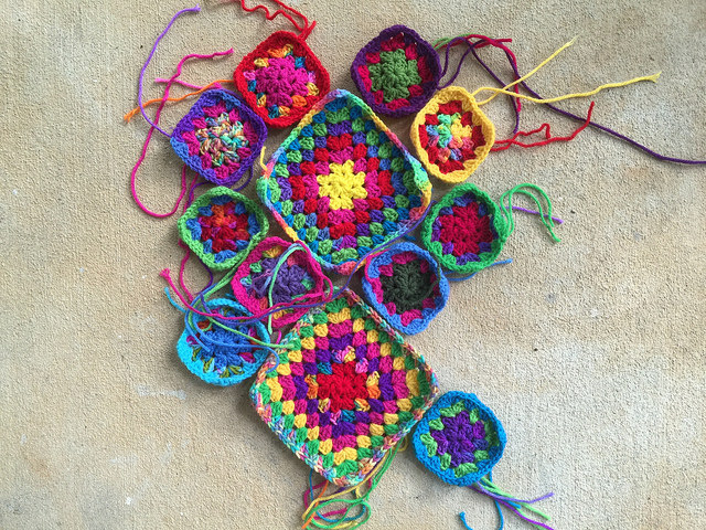 granny square purse crochet squares