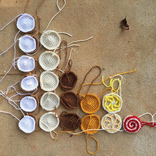 crochet cookie bar graph crochet circle
