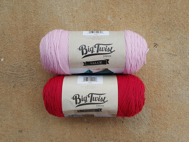 two skeins of yarn