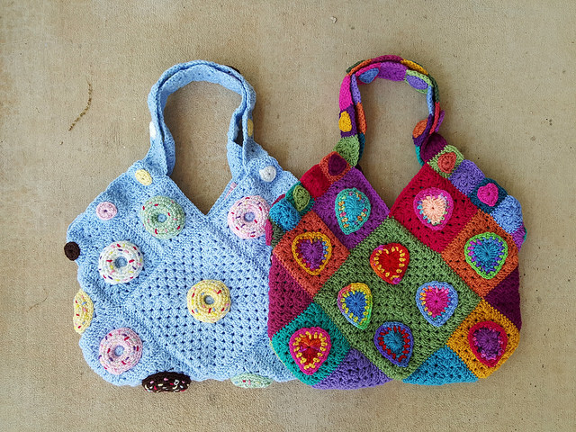 And then there were two practically perfect crochet bags