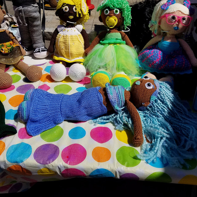 crochet doll mermaid