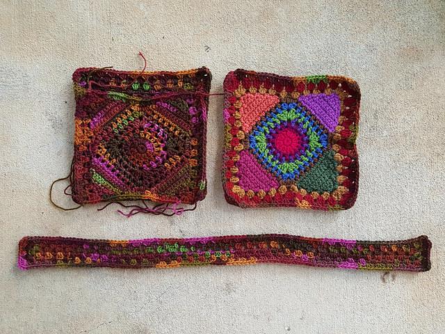 crochet pieces for granny square purse