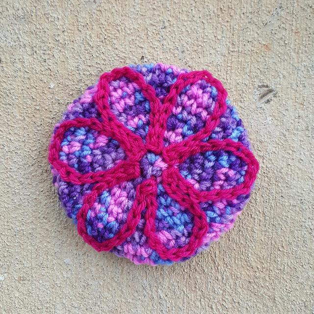 grape fizz crochet flower motif