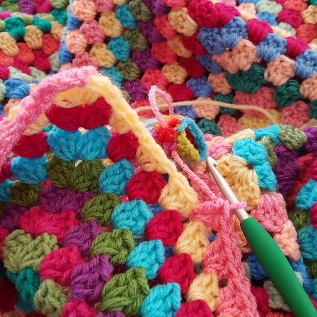The crochet finish line