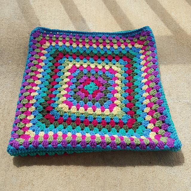 future granny square crochet purse