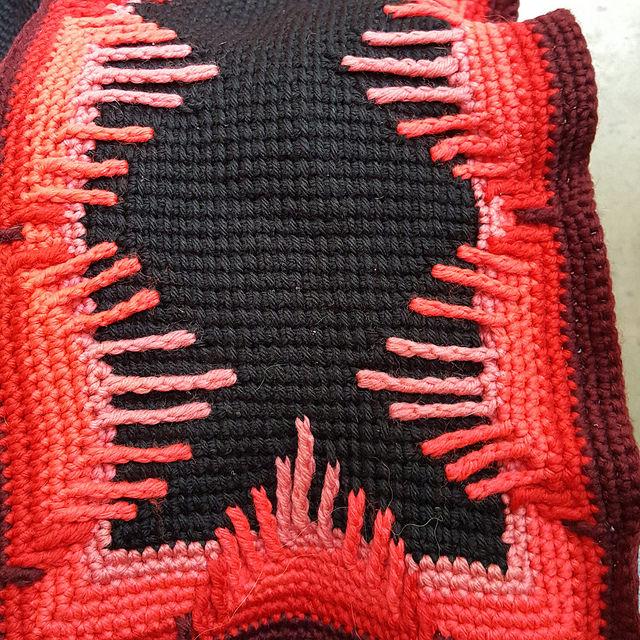 crochetbug, crochet panel, textured crochet, tunisian crochet, afghan crochet stitch,