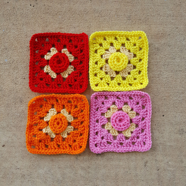 Everything's coming up crochet roses