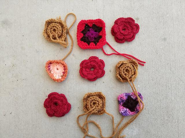nine more crochet remnants in need of crochet rehab