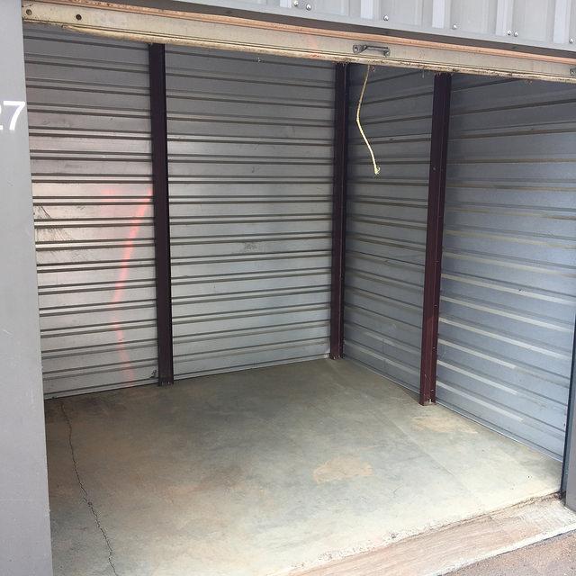 An empty storage unit