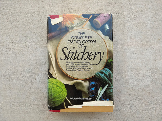 My go-to embroidery reference book that came with me on the journey to downsize