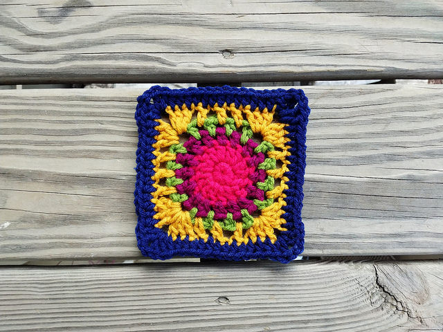 The twenty-first five-inch rehabbed crochet square