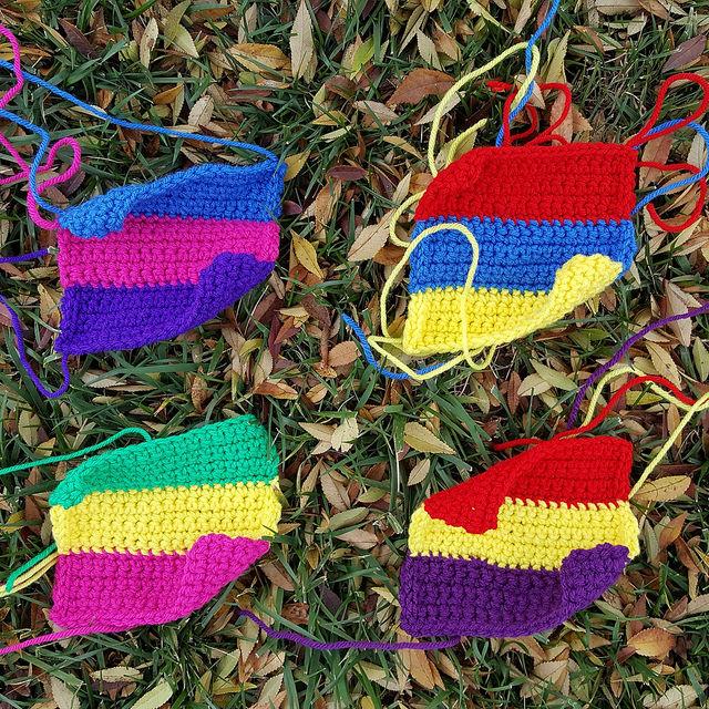 Four future six-inch crochet squares