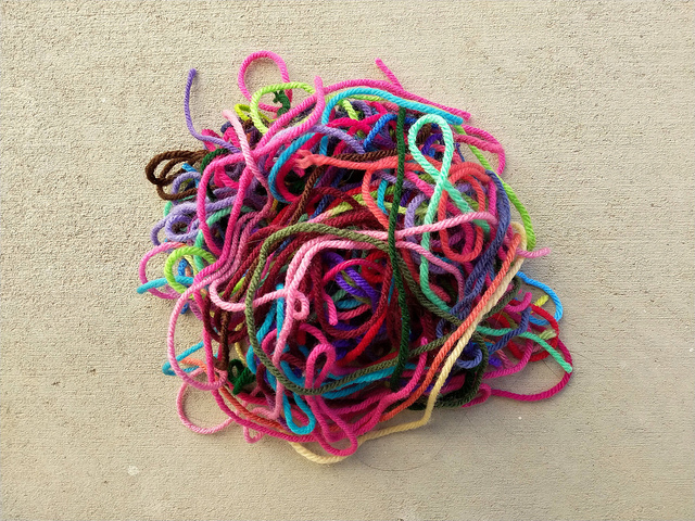 Yet another collection of yarn scraps
