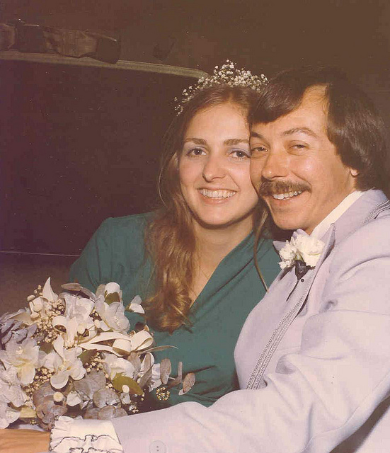 Mike and Lois on their wedding day