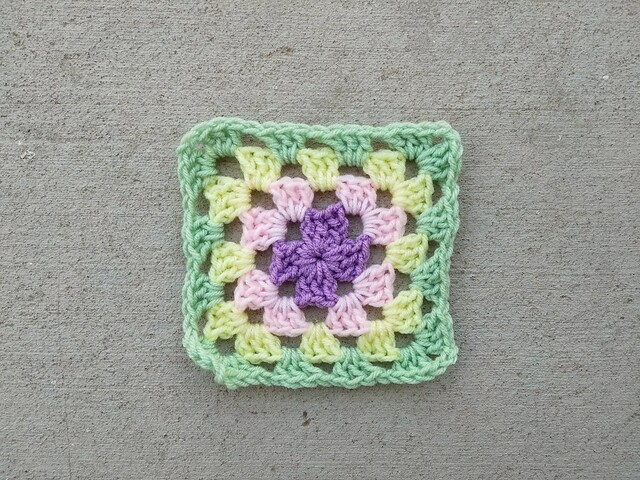 One of several long forgotten granny squares