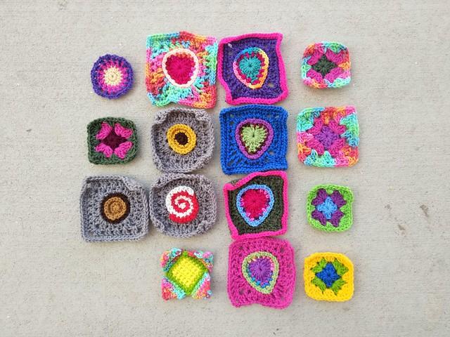 Sixteen minus one crochet remnants mid rehab