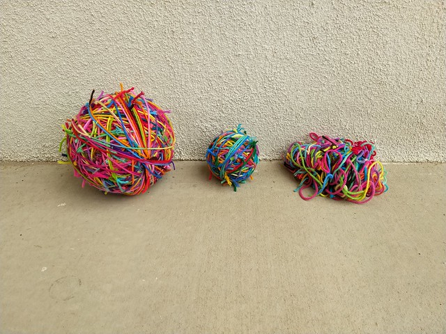 My current scrap yarn collection in various states