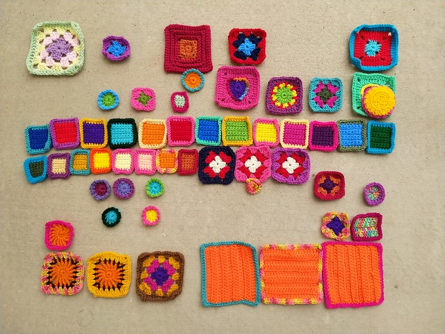 Remnants ready for another round of crochet rehab