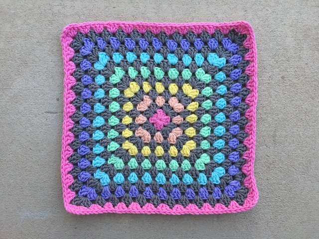 Thirteen rounds in on a great granny square blanket for Averie