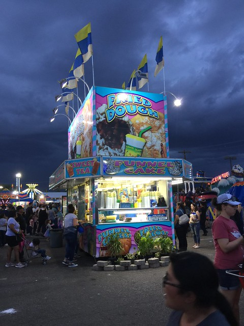 The requisite fried dough booth at the 2019 New Mexico State Fair