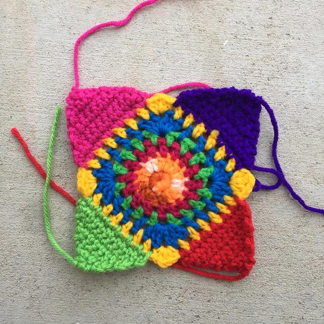 A crochet-achella square for a crochet-achella state of mind crochet purse