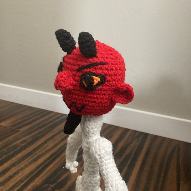 the crochet handsome devil in profile
