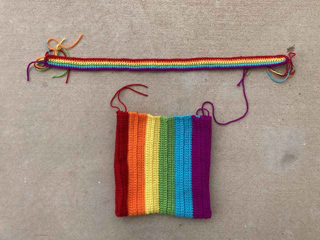 the crochet purse and a crochet strap