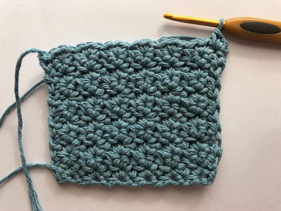 crochet cluster square