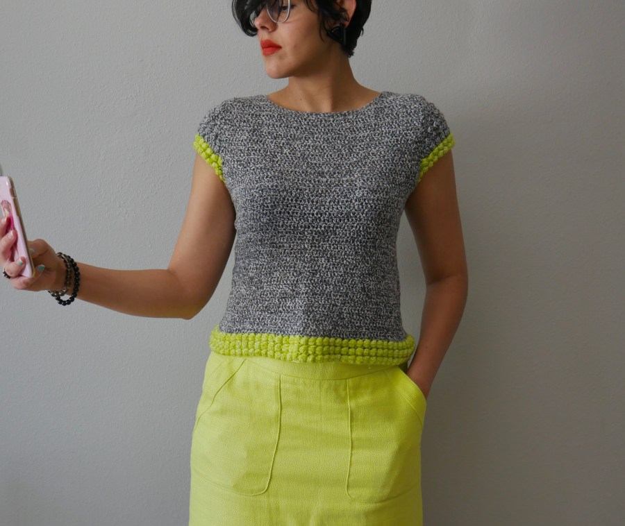 crochet bobble stitch top