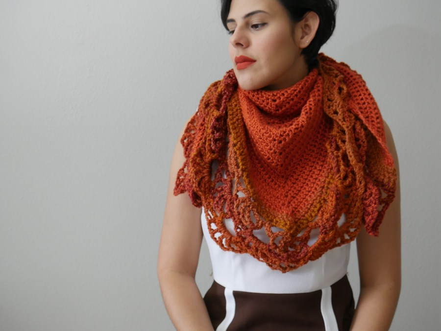 Hagrid's Pumpkin Patch Shawl