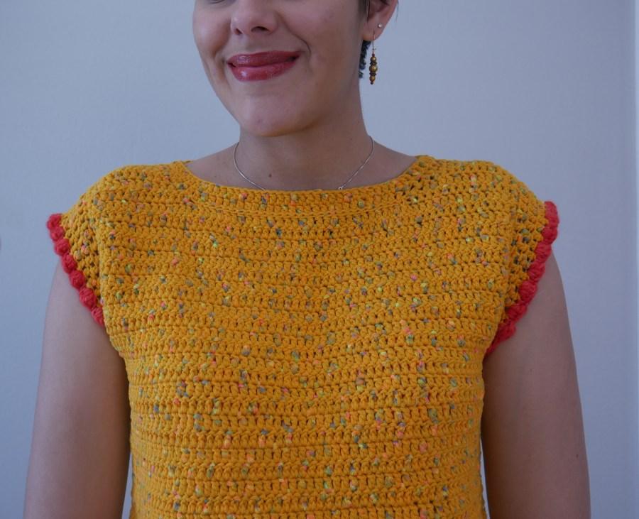 bobble crochet crop top