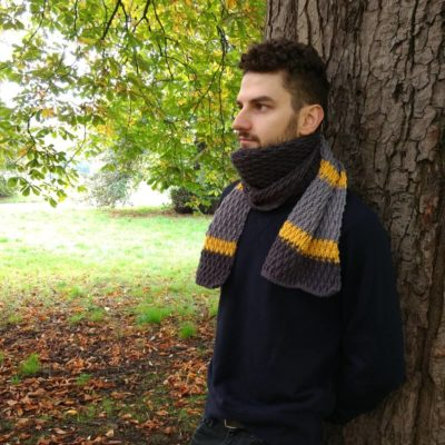 Men's crochet scarf - free crochet pattern - crochet cloudberry