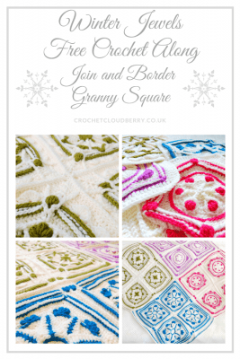 Join and Border - Winter Jewel Lapghan Free Crochet Along - Free Crochet Pattern - Crochet Cloudberry