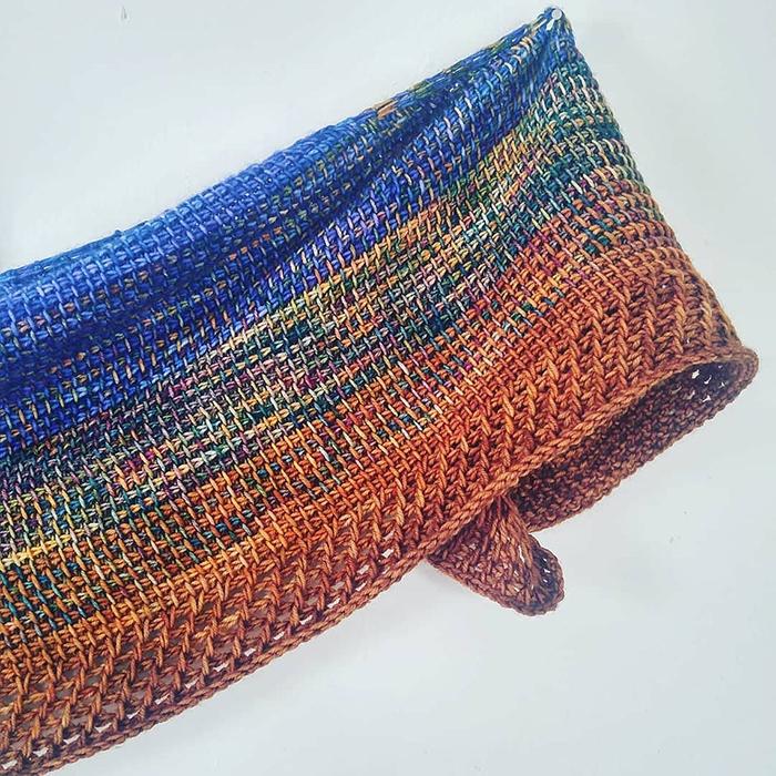 Luna Fade Tunisian Crochet Shawl