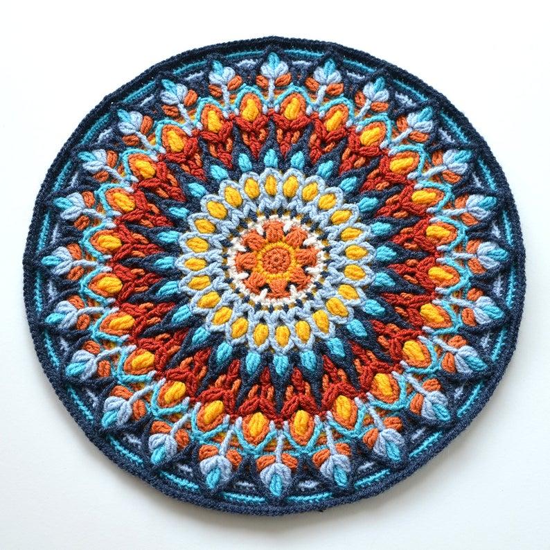 Spanish Mandala crochet pattern by Lilla Bjorn Crochet