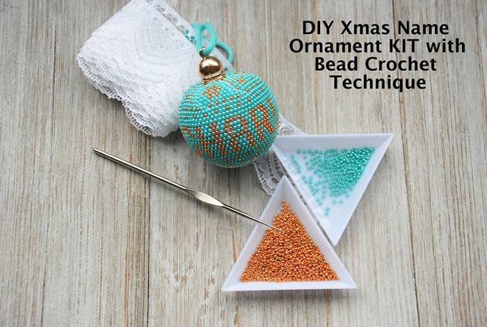 Bead Crochet Christmas Ornament Kit