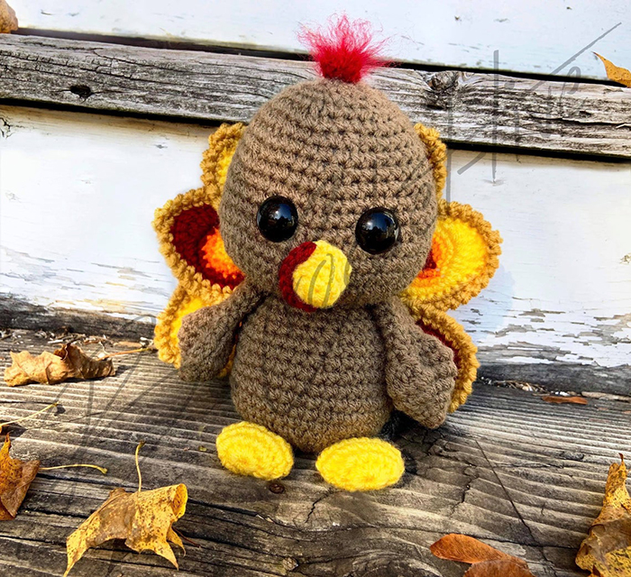 Nugget the Thanksgiving Turkey Crochet Pattern
