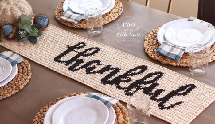 Thankful Crochet Table Runner