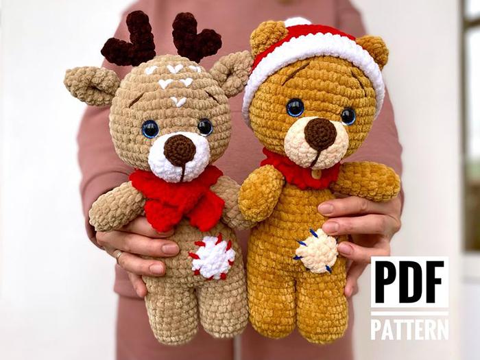 Christmas Bear and Deer