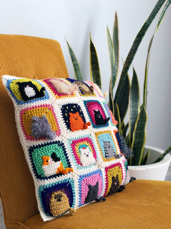 Many Cats Square - Crochet Pattern