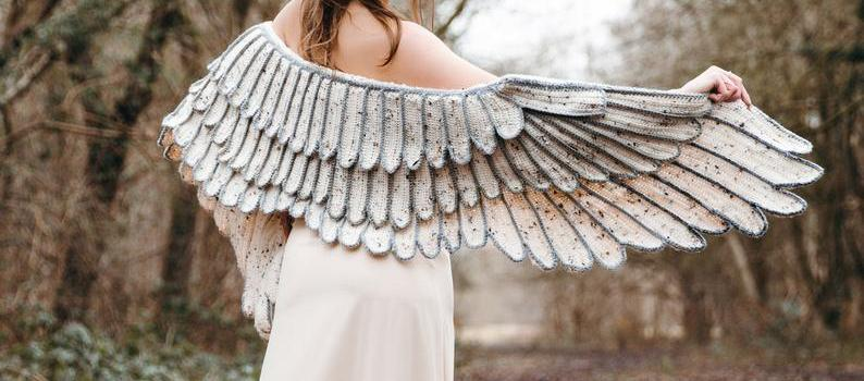 Feather Wing Crochet Shawl by Crafty Intentions