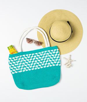 Mosaic Crochet Tote Bag Pattern Kit